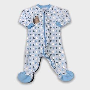4/$20🥳 Light Blue Cotton Bear Print Sleeper